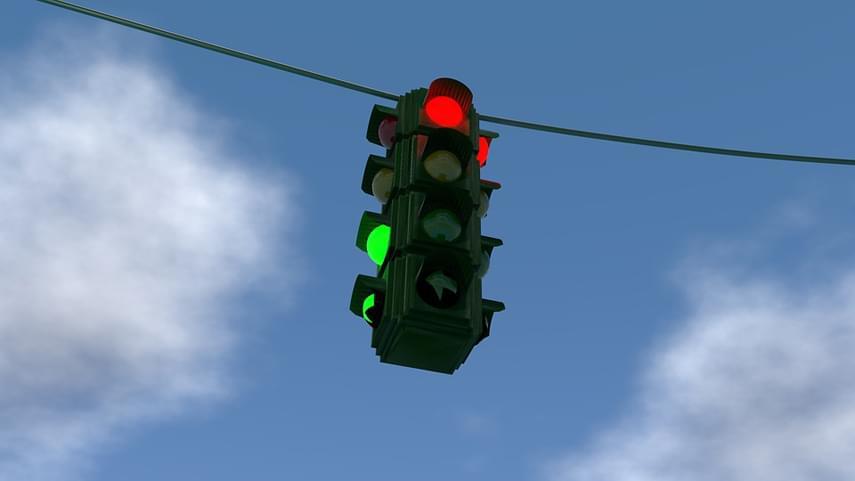 La-luz-roja-de-un-semaforo-para-vehiculos-afecta-a-los-conductores-de-bicicletas
