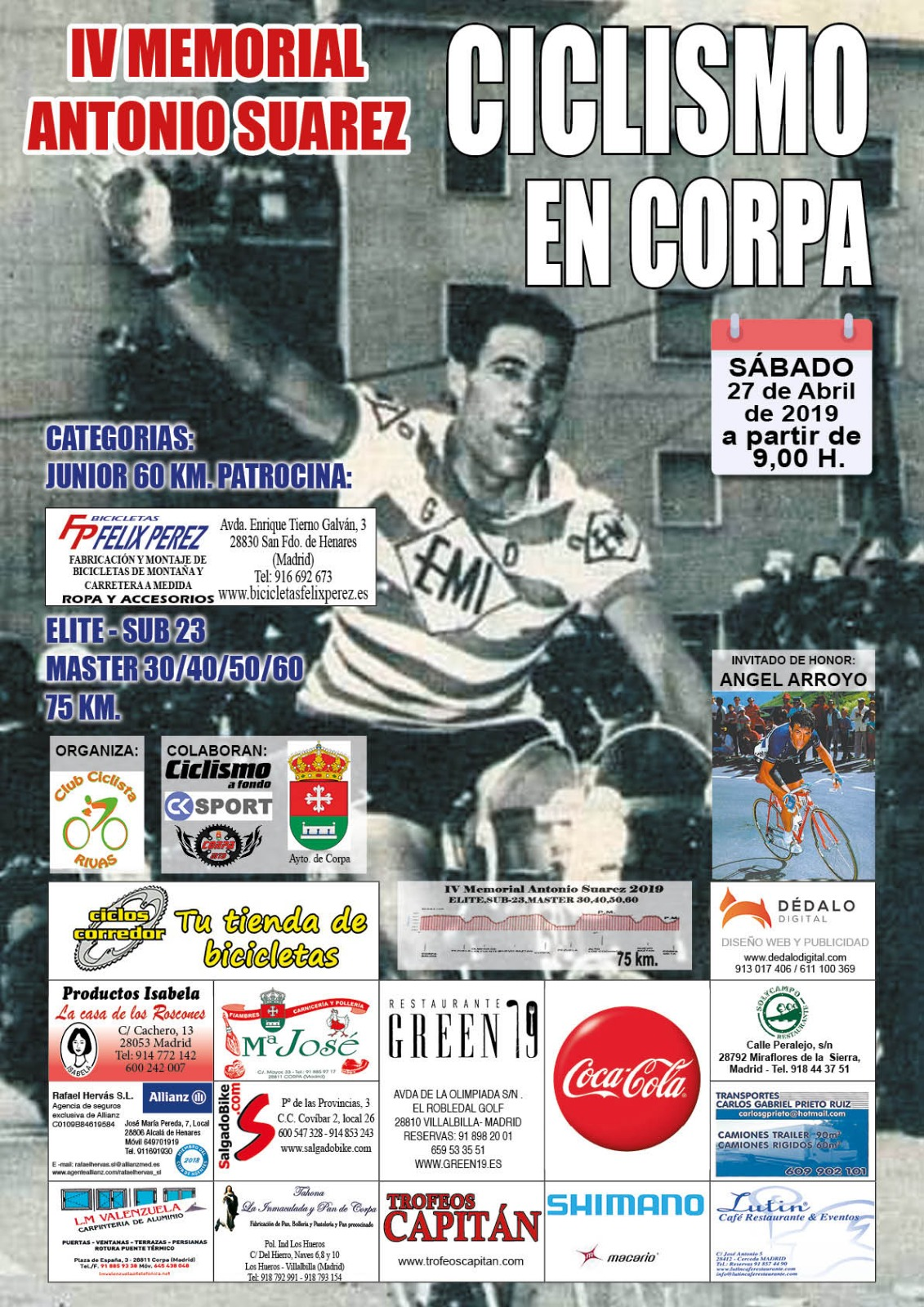 Corpa homenajea el 27 de Abril un año más a Antonio Suárez