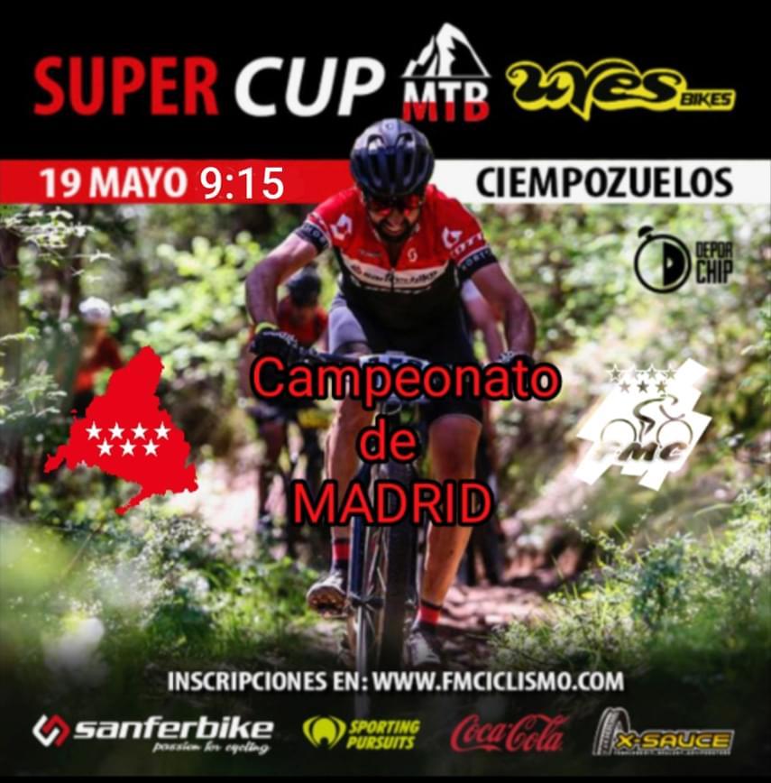 ÚLTIMA HORA: La Supercup Uves Bikes de Ciempozuelos será este domingo Campeonato de Madrid de XCO