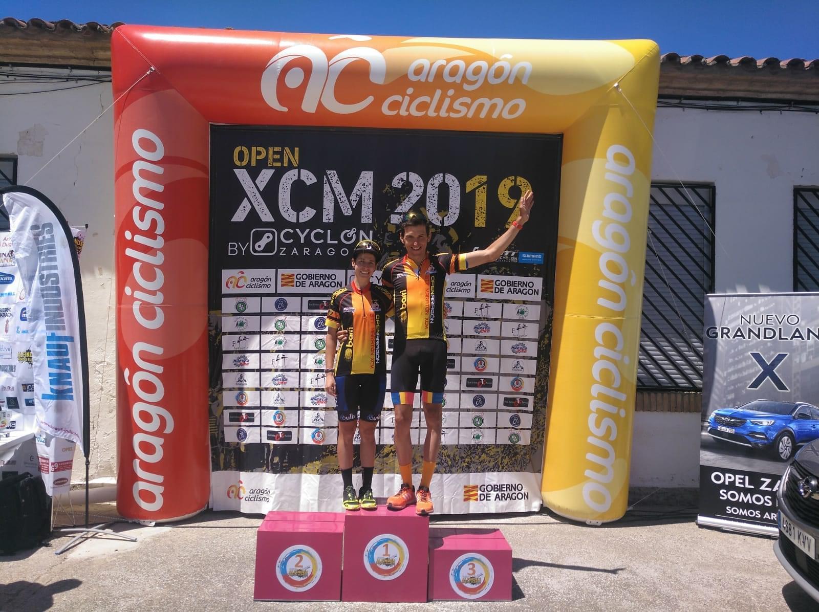 Félix Molina y Eva Elbaile dominan la XVI BTT Alfindén Montes Blancos
