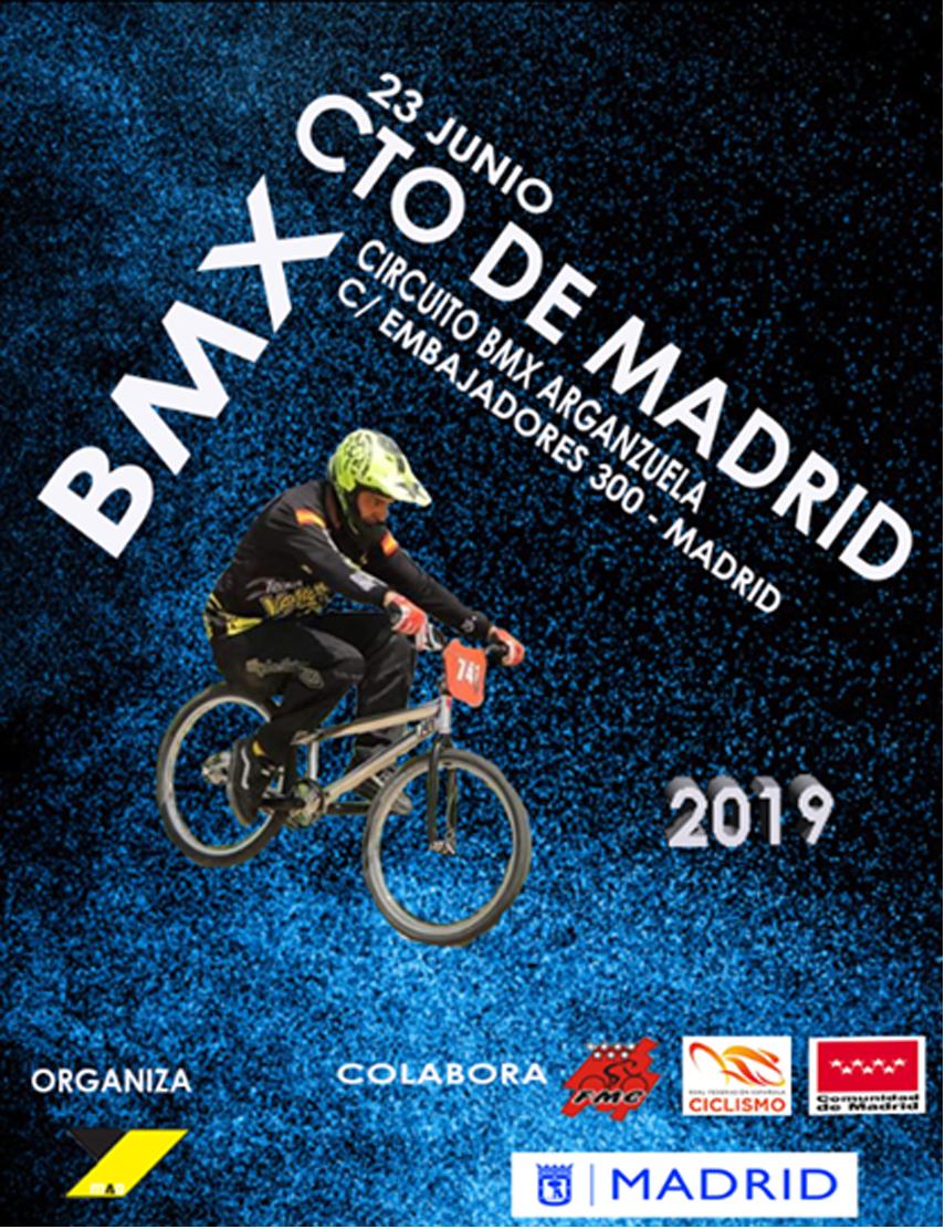 El 23 de Junio, en el barrio madrileño de Arganzuela, Campeonato de Madrid de BMX