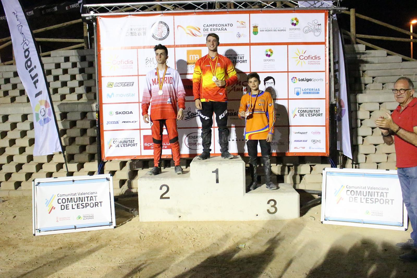 Cinco medallas, magnífica cosecha para la Selección Madrileña en los Nacionales de BMX de San Vicente del Raspeig