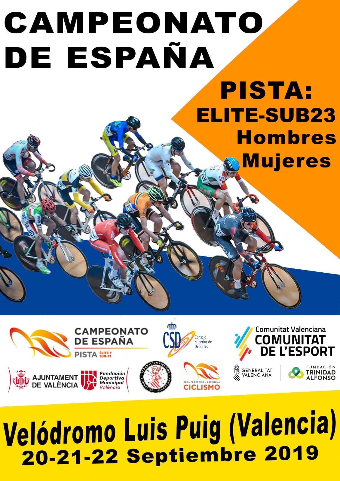 Valencia, sede del Campeonato de España de Pista 2019