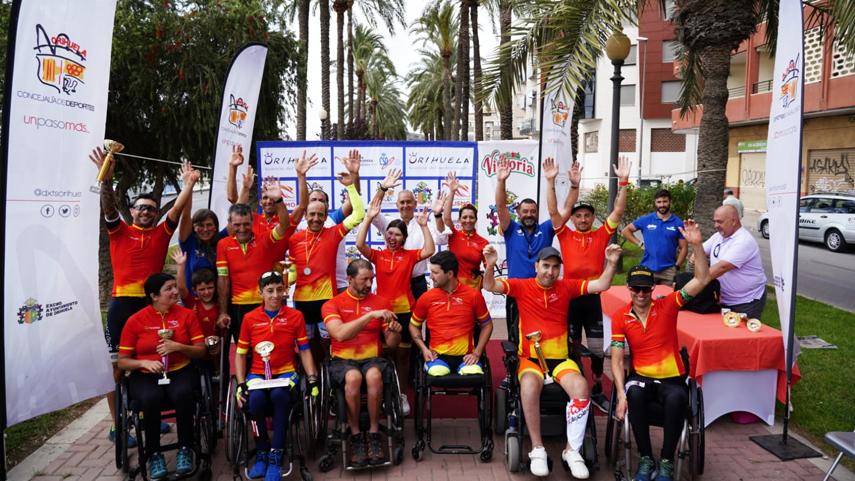 Gran-acogida-en-Orihuela-de-la-Copa-de-Espana-de-Ciclismo-Adaptado-en-Carretera