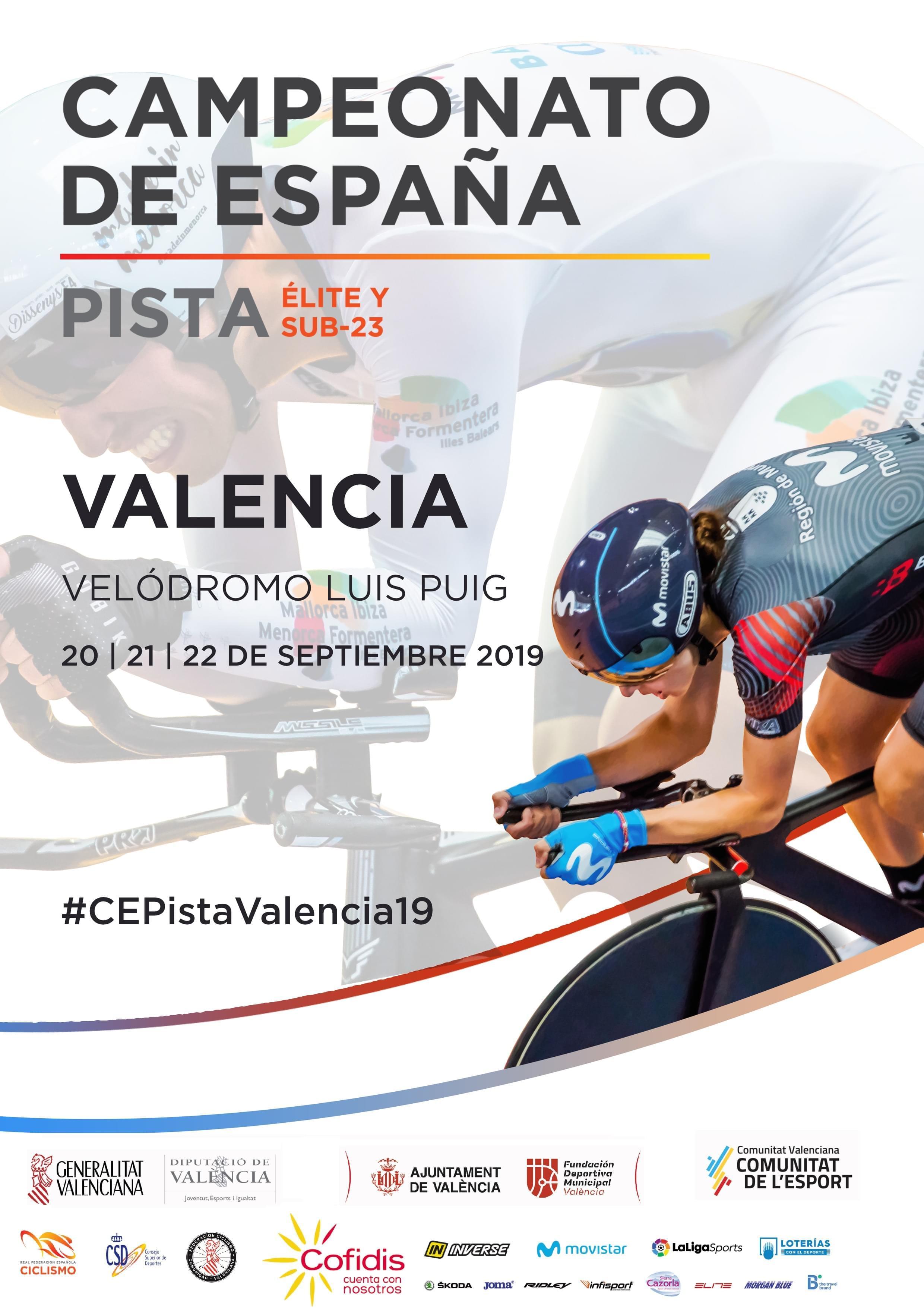 Valencia corona este fin de semana a los nuevos campeones de España de Pista 2019