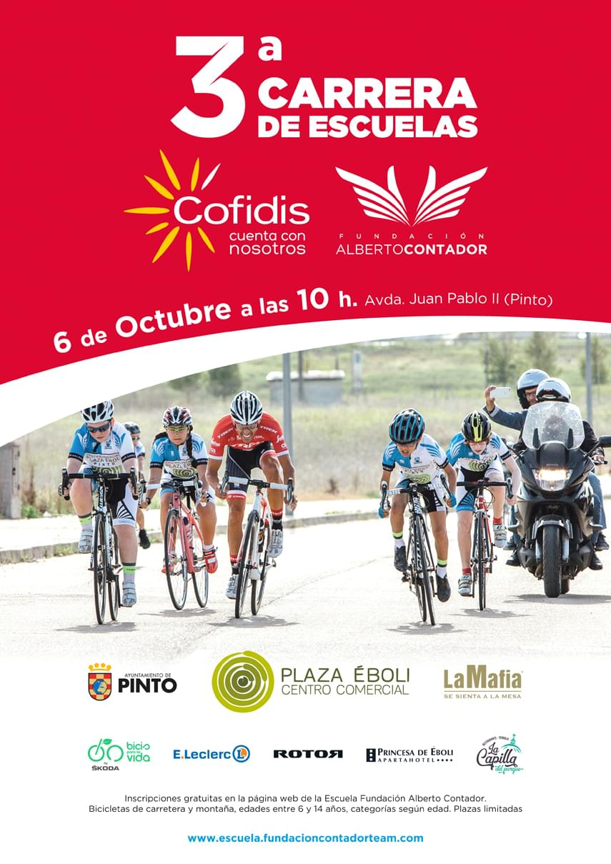 Cofidis, patrocinador principal de la III Carrera de Escuelas de la Fundación Alberto Contador