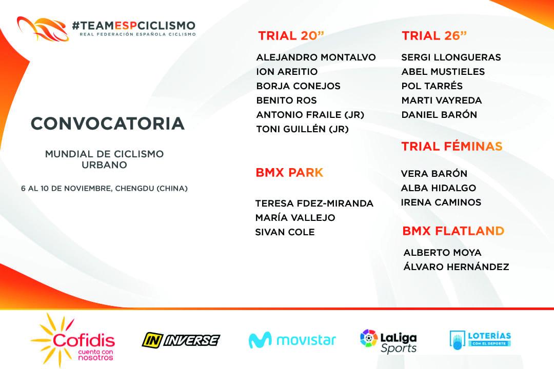 La Selección Española afronta con ilusión el Mundial de Ciclismo Urbano 2019