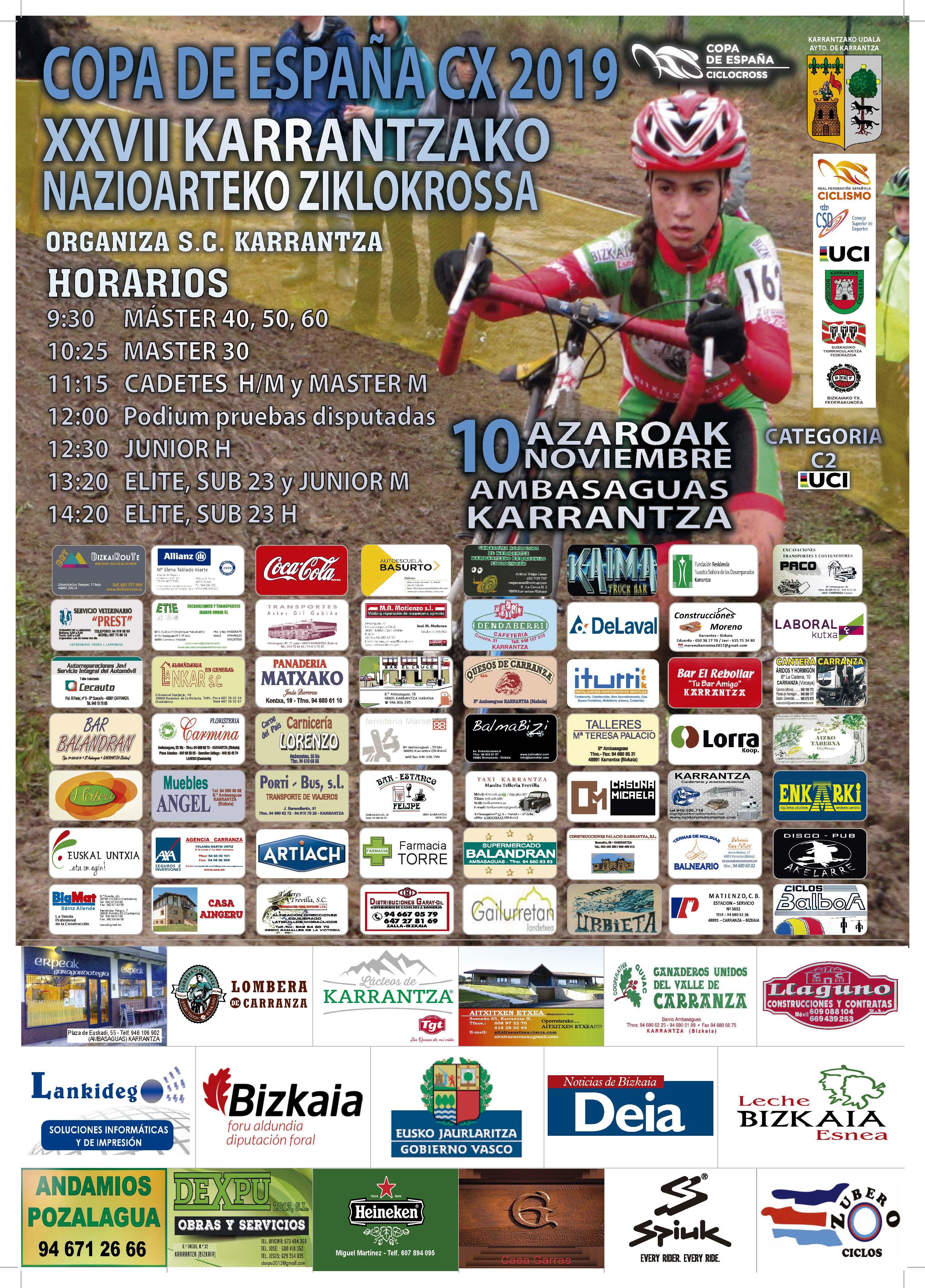 El XXVII Ciclocross Karrantza da continuidad a la Copa de España de Ciclocross 2019