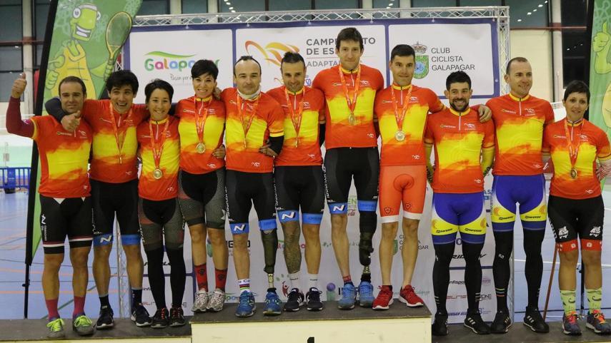 Galapagar-decide-los-primeros-Campeones-de-Espana-de-Ciclismo-Adaptado-en-Pista