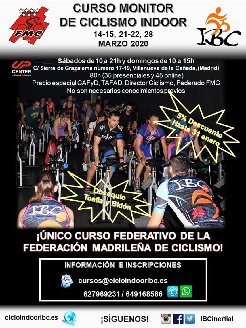 Últimos días para inscribirse a nuestro Curso de Ciclismo Indoor
