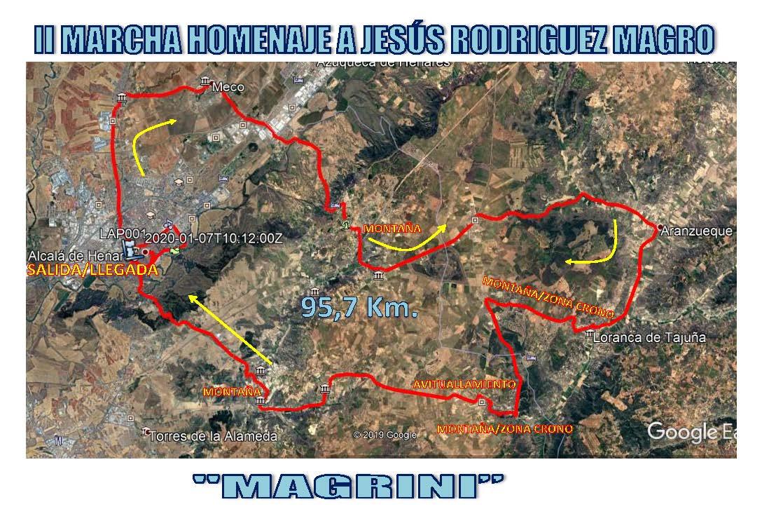 Ya tenéis rutómetros y planos de la II Marcha Cicloturista Homenaje a Jesús Rodríguez Magro