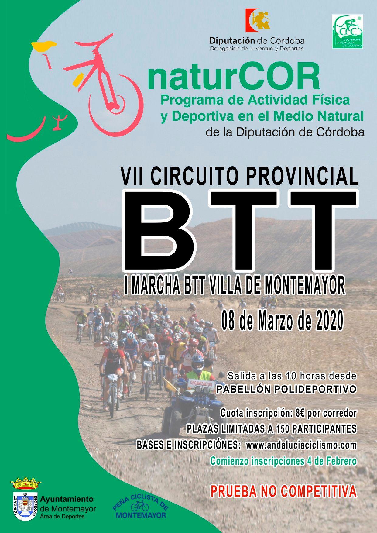 El NaturCor sumará pedaladas en Montemayor con la Marcha BTT Ciudad de Ulia
