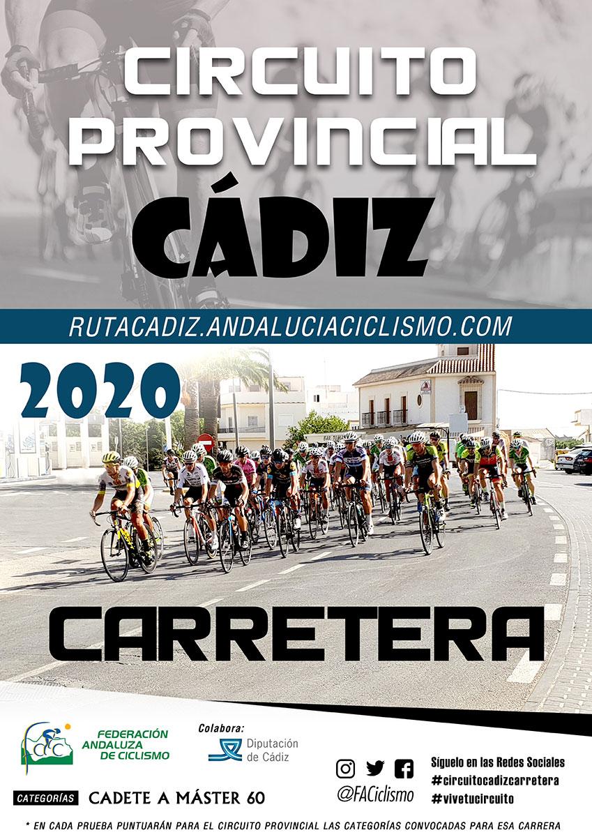 Fechas del Circuito Provincial de Cádiz Carretera 2020