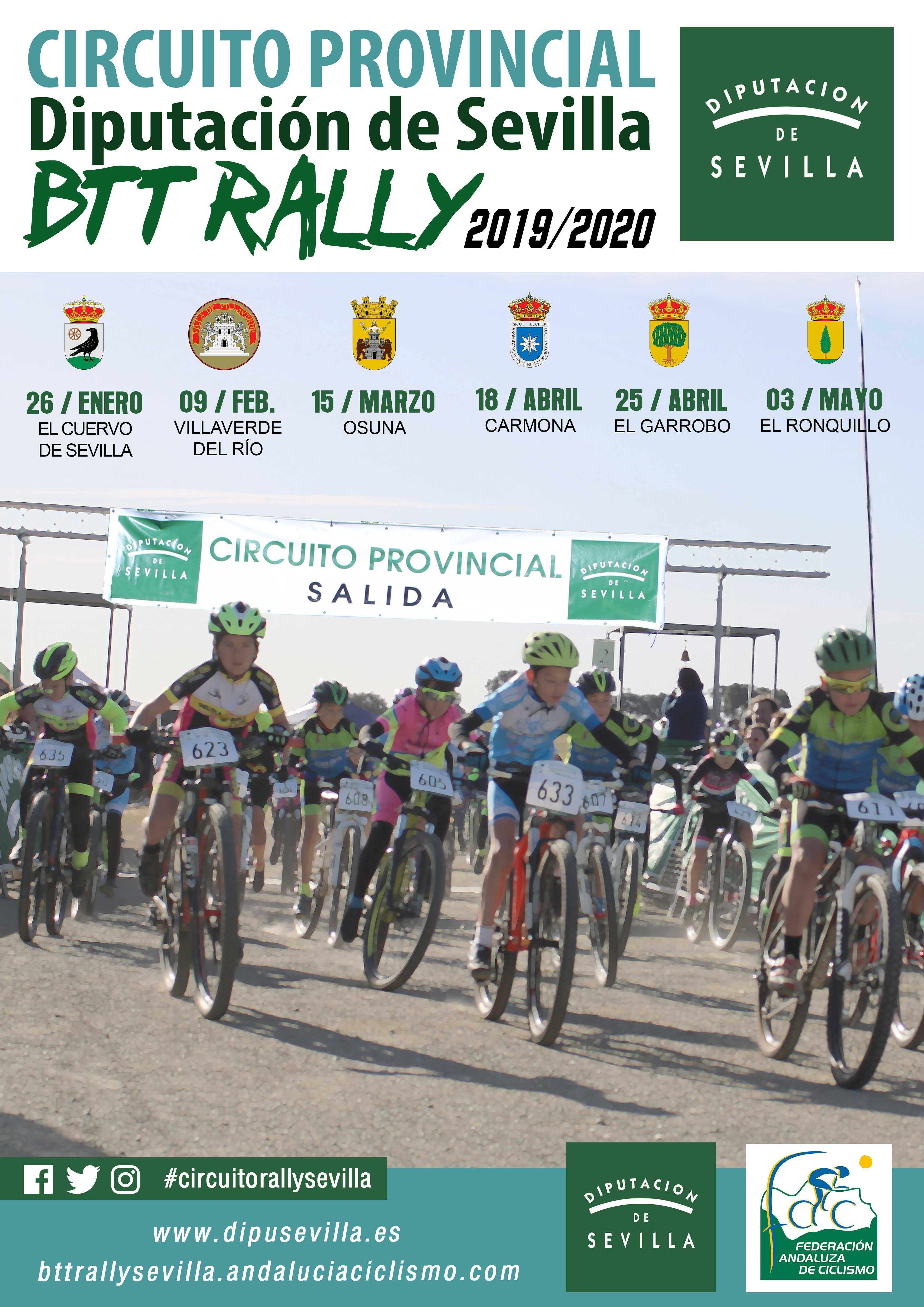 Osuna retomará el Circuito Diputación Sevilla BTT Rally 19/20