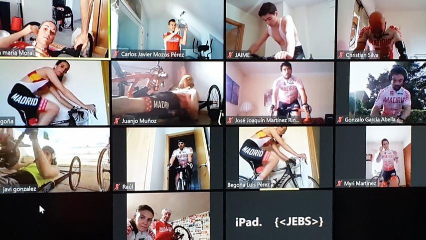 Nuevo-sesion-de-trabajo-on-line-de-los-ciclistas-adaptados-madrilenos