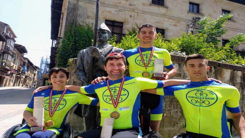 Triplo-exito-de-Mila-Lopez-e-bronces-de-Ivan-Montero-Angel-Lopez-e-Luis-Arceaga-na-Paracycling-Bira-