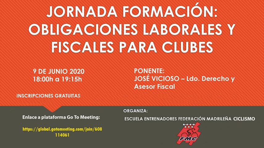 Jornada online sobre obligaciones laborales y fiscales para clubes el 9 de Junio (ACTUALIZADA)