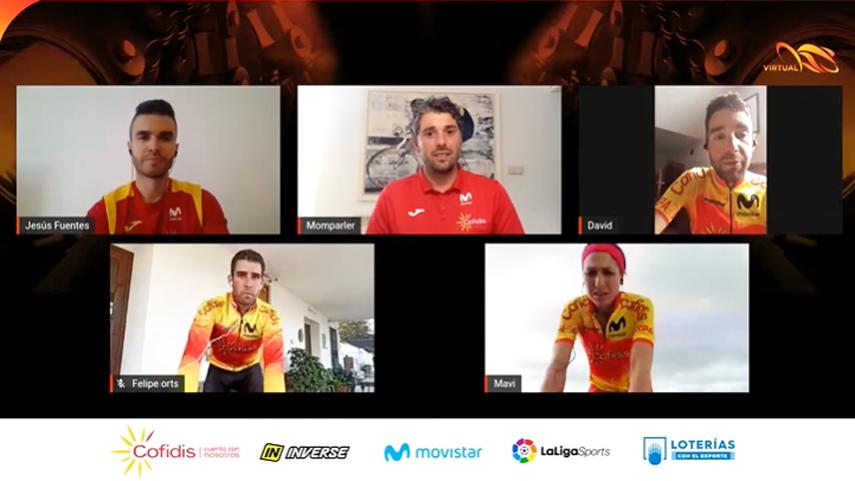 Asi-fue-la-2-quedada-virtual-del-#TeamESPciclismo-con-David--Valero-Felipe-Orts-y-Mavi-Garcia
