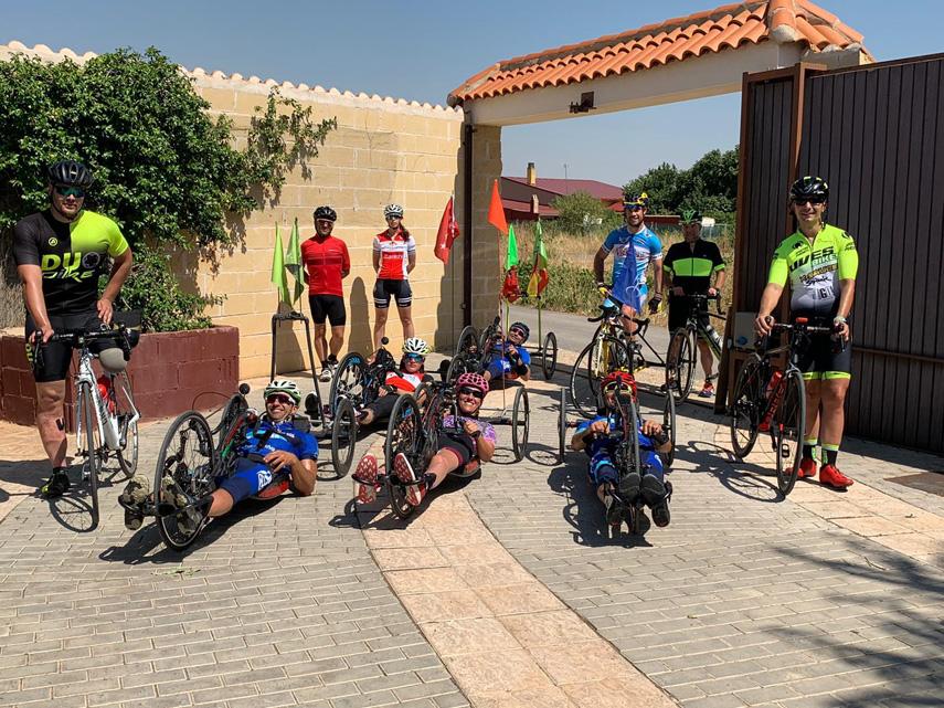 Entrenamiento oficial del Ciclismo Adaptado madrileño en Tarancón