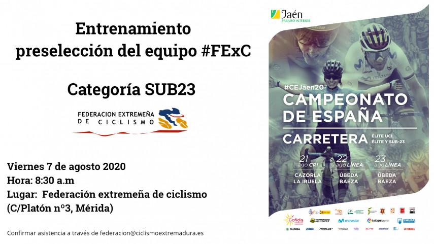 CAMPEONATOS-DE-ESPANA-DE-CARRETERA-2020-PRESELECCIoN-EQUIPO-SUB23-#FEXC