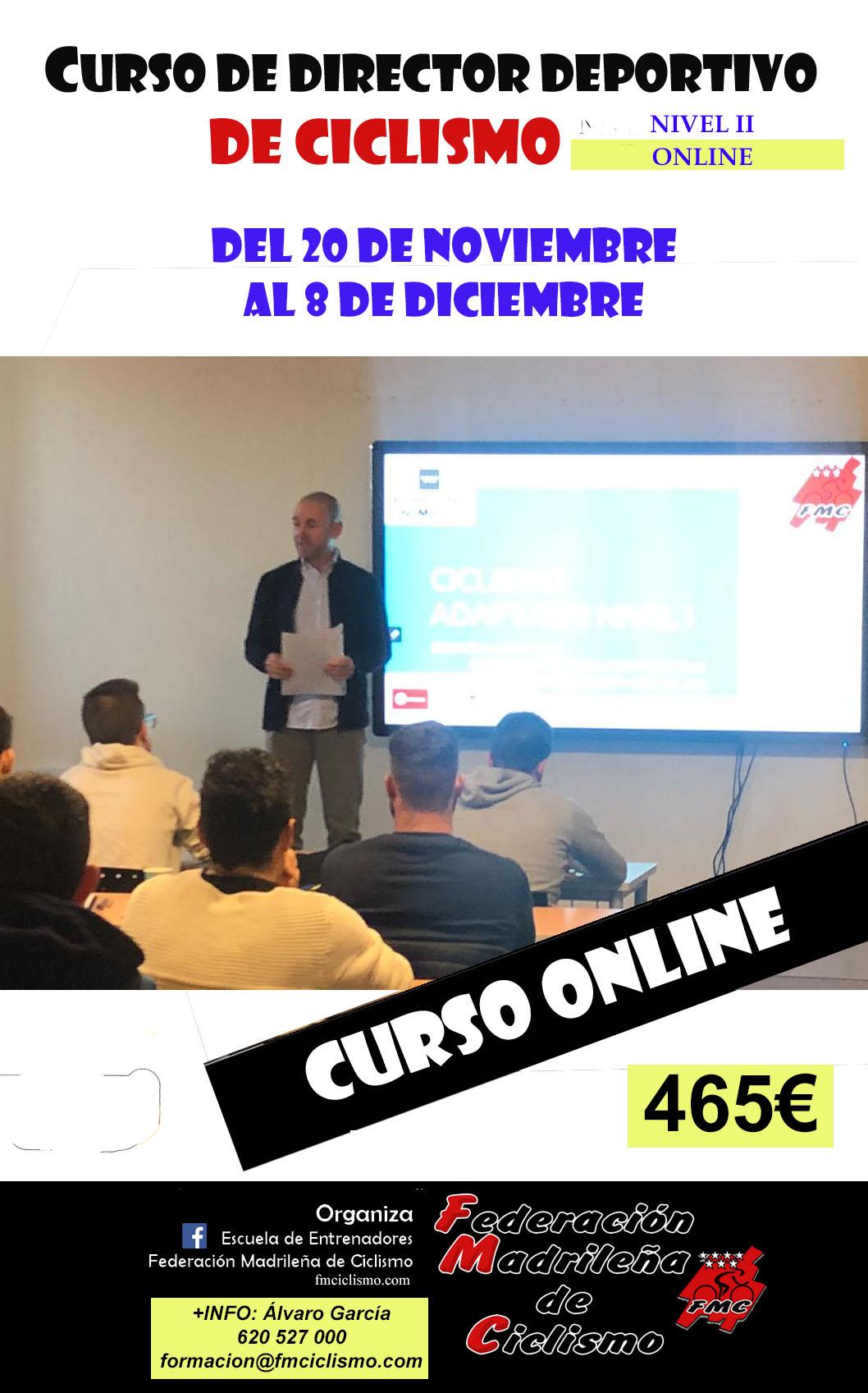 Recta final para inscribirse a los cursos de Director Deportivo Nivel I y II en formato online (ACTUALIZADA)