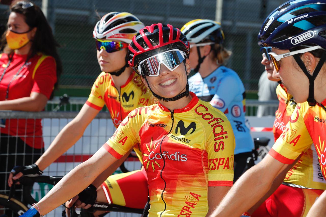 Valiente Selección Española en la prueba en línea femenina del Mundial de Imola