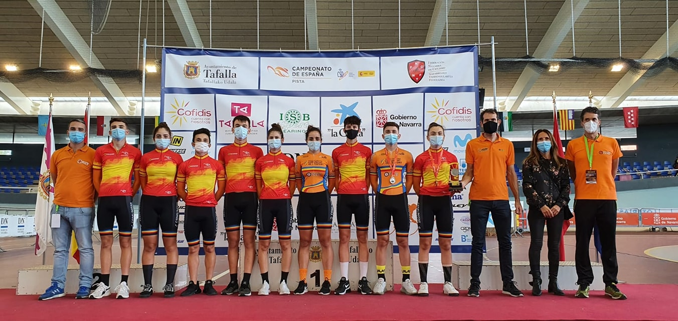 La Comunitat Valenciana logra 19 medallas en los Nacionales de Pista celebrados en Tafalla