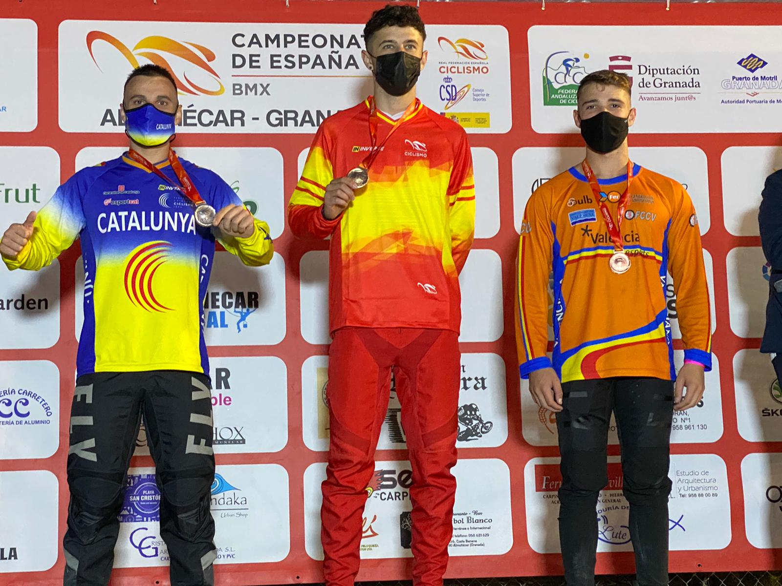 La selección autonómica de BMX logra tres medallas en los Nacionales de Almuñécar