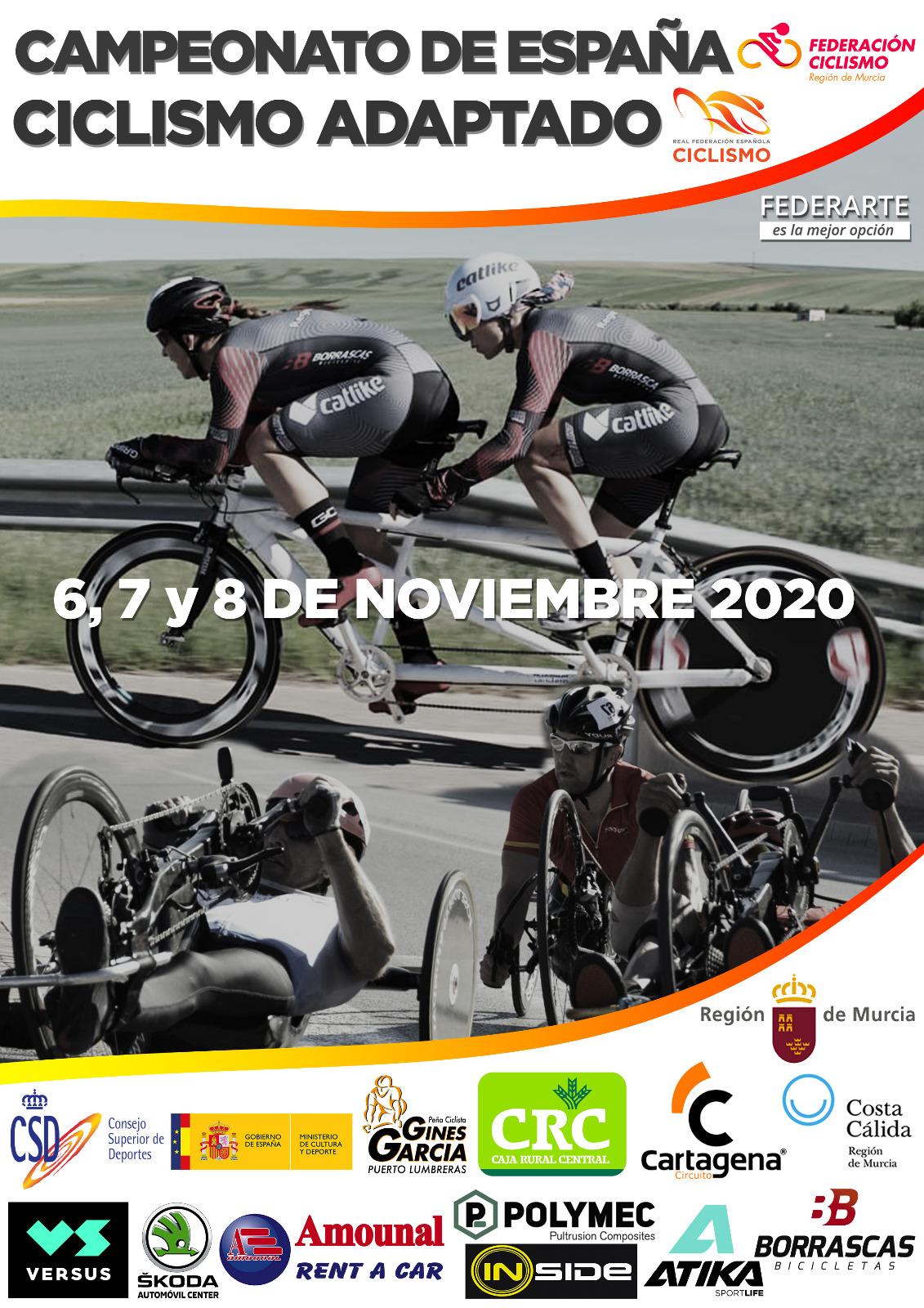 El Ciclismo Adaptado madrileño, con toda la artillería en los Nacionales de ruta de Cartagena