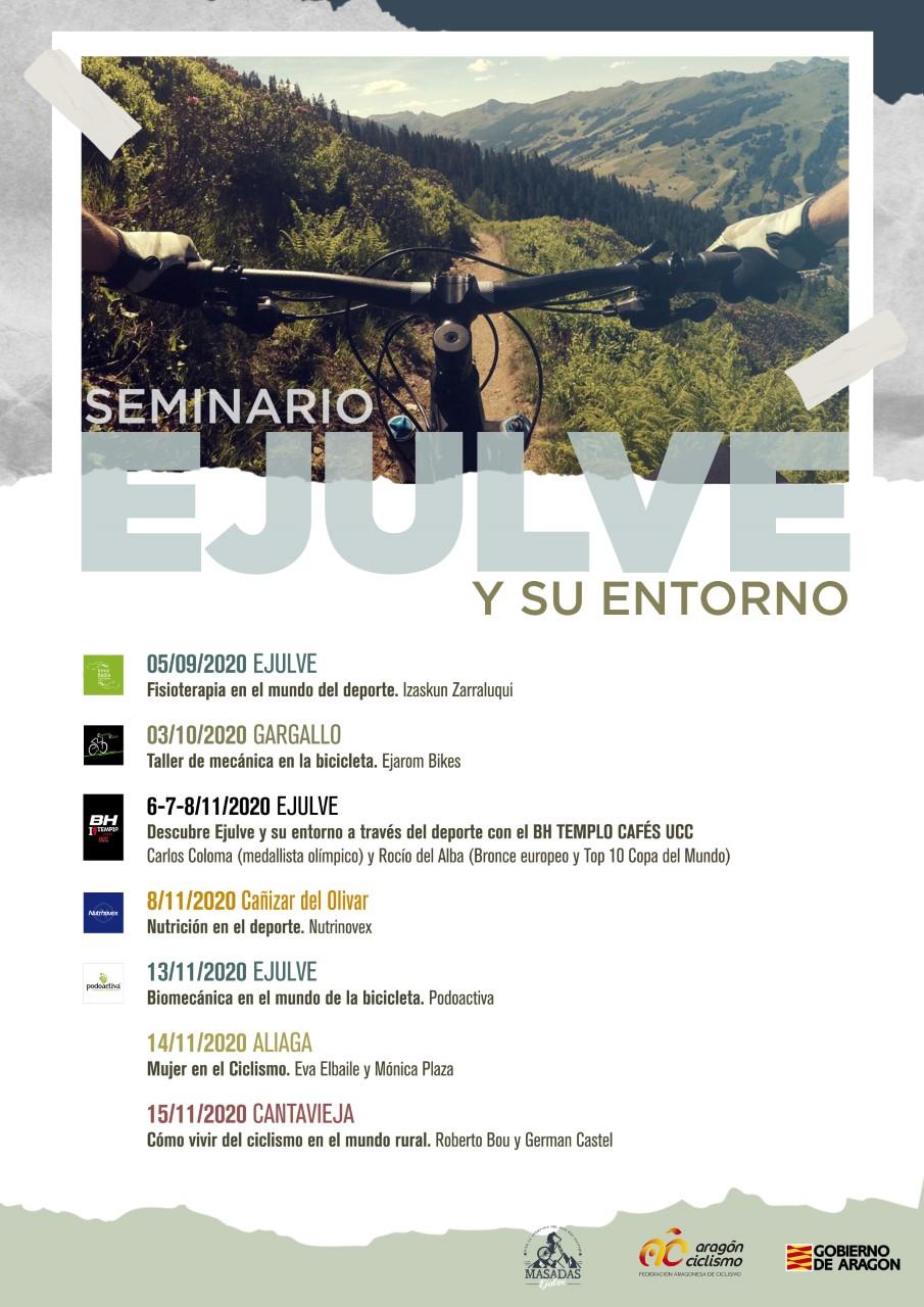 Carlos Coloma y Rocío del Alba promocionan Ejulve como destino de bicicleta de montaña.