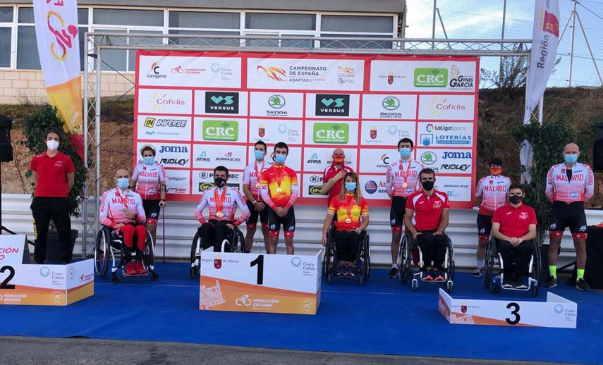 El Ciclismo Adaptado madrileño no especula y se cuelga 17 medallas en los Nacionales de ruta de Cartagena