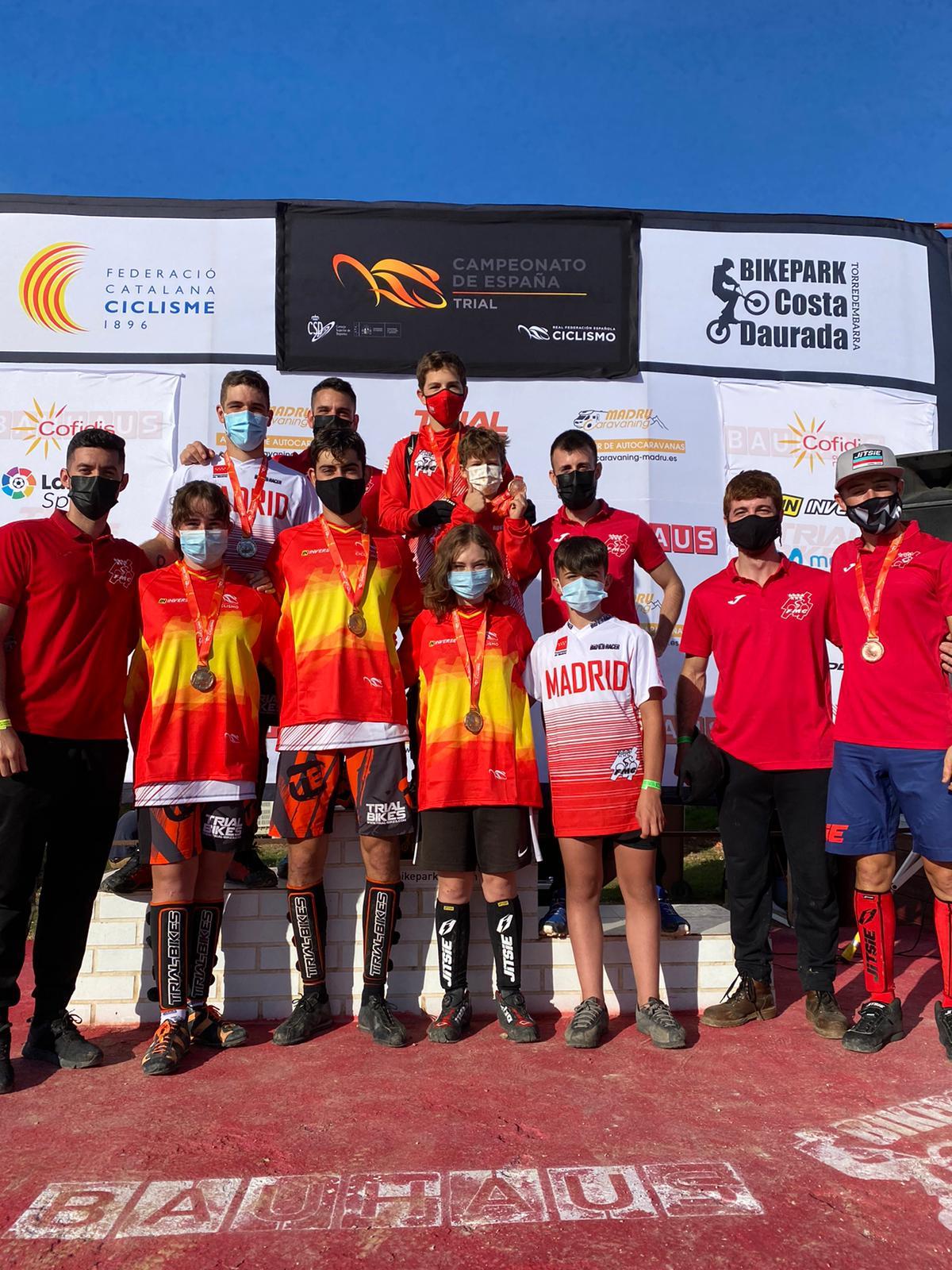 Siete medallas adornan el magnífico papel de la Selección Madrileña de trial en los Campeonatos de España