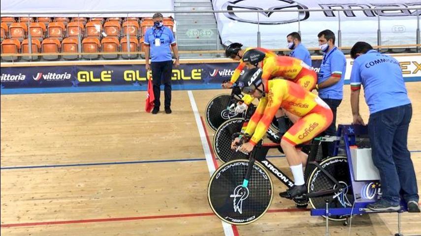 4-plaza-para-Espana-en-la-Velocidad-por-Equipos-masculina-en-la-jornada-inaugural-del-Europeo