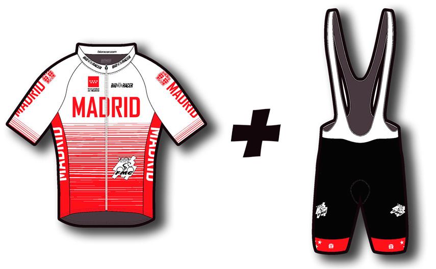En nuestra tienda online, la ropa de competición de Bioracer de la Selección Madrileña a vuestra disposición