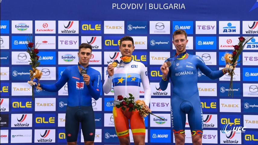 Sebastian-Mora-campeon-de-Europa-de-Puntuacion-Helena-Casas-bronce-en-Keirin