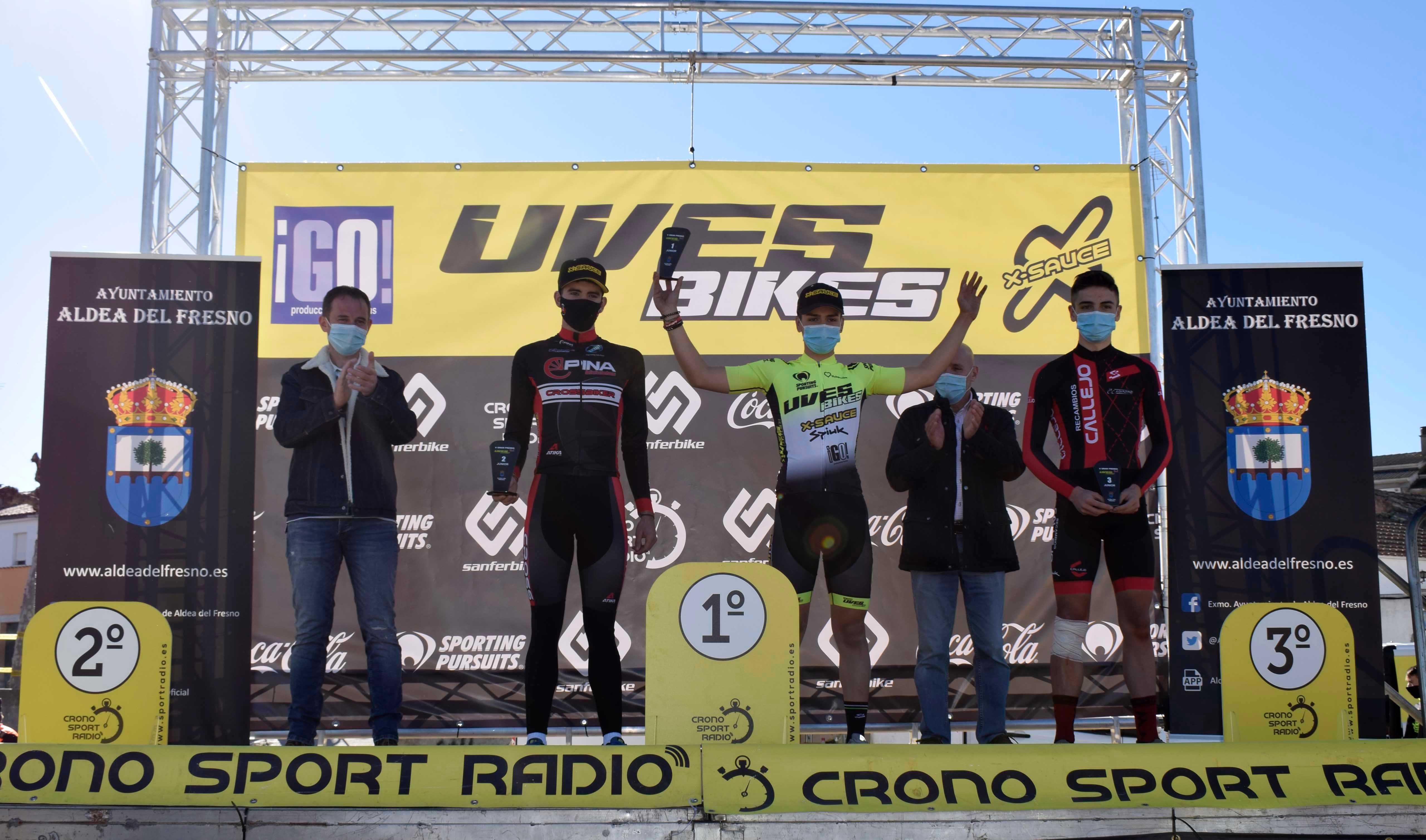 Gran fortaleza de Aida Nuño y Gonzalo Inguanzo en el V Trofeo de Ciclocross Uves Bikes