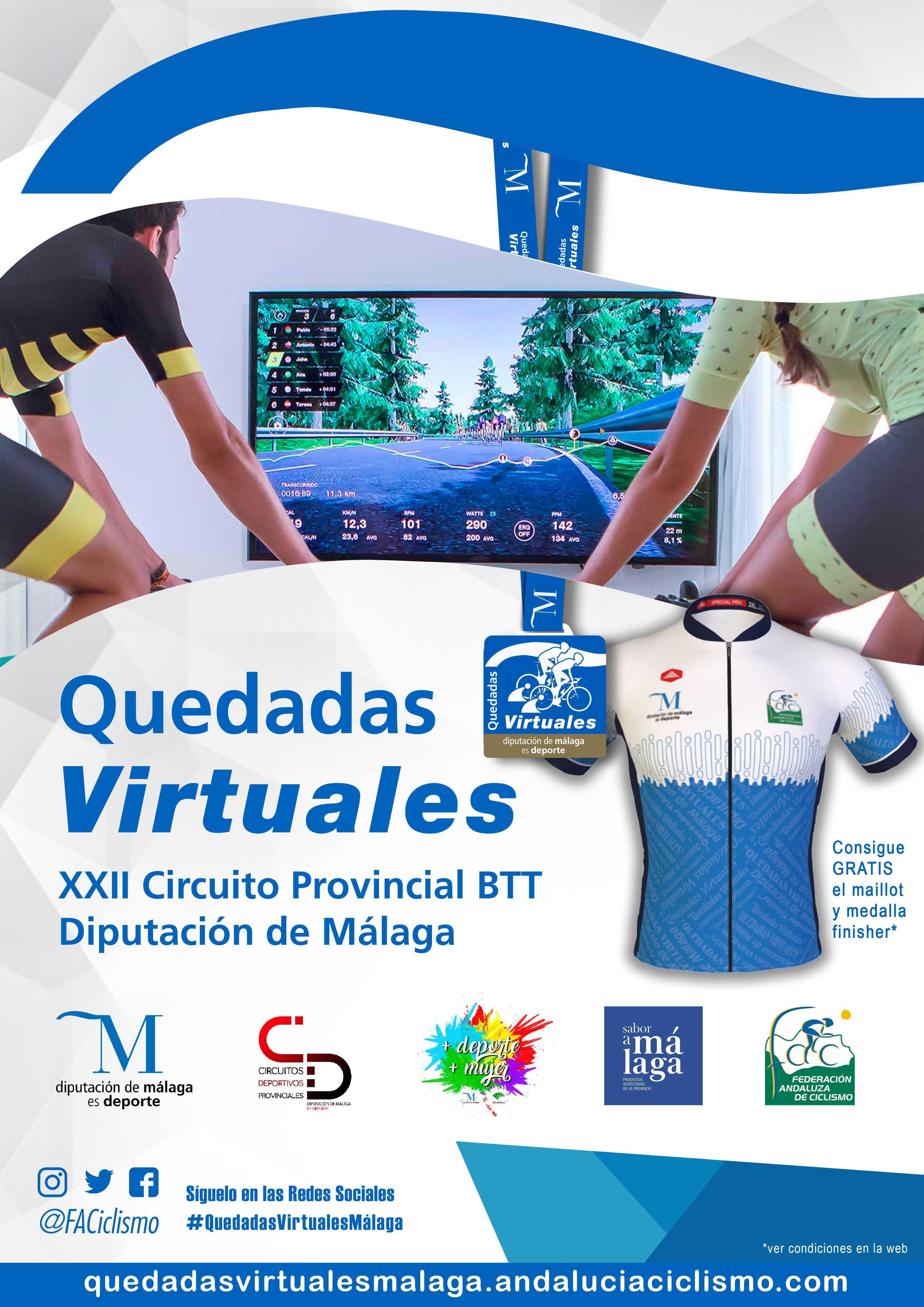 Finalizan con éxito las Quedadas Virtuales del Circuito Diputación de Málaga