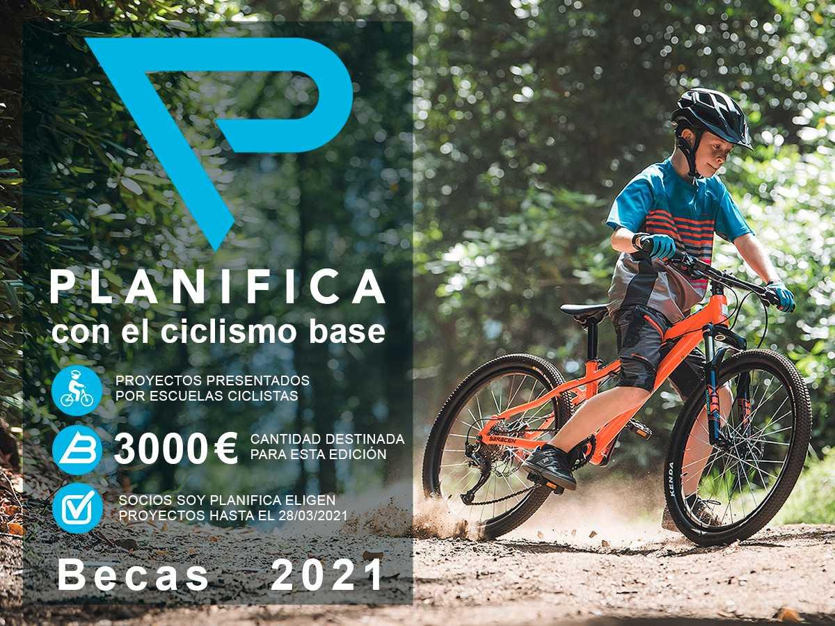 Becas Planifica 2021 para Escuelas y clubes de Ciclismo Base por importe de 3.000 euros