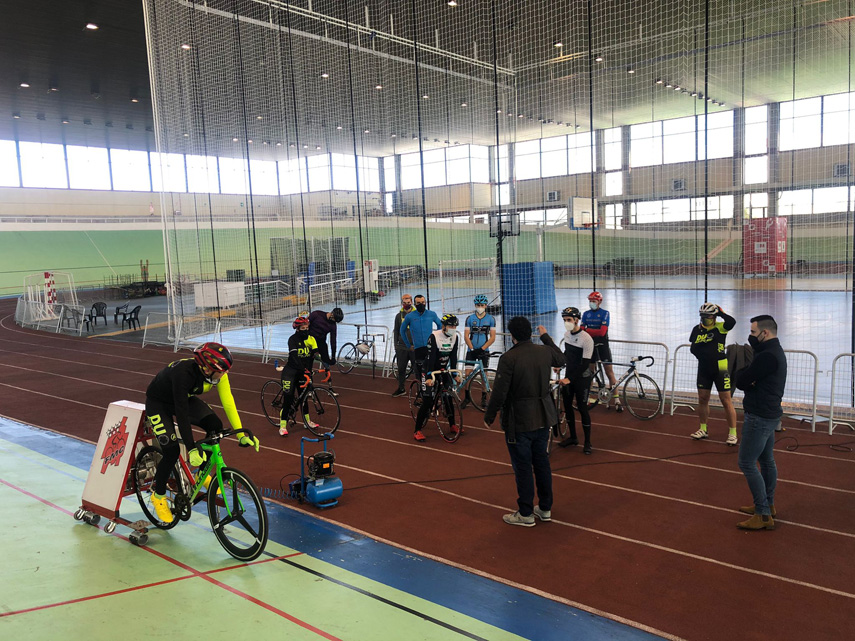 Nuevo entreno en Galapagar de la Selección madrileña de pista de Ciclismo Adaptado