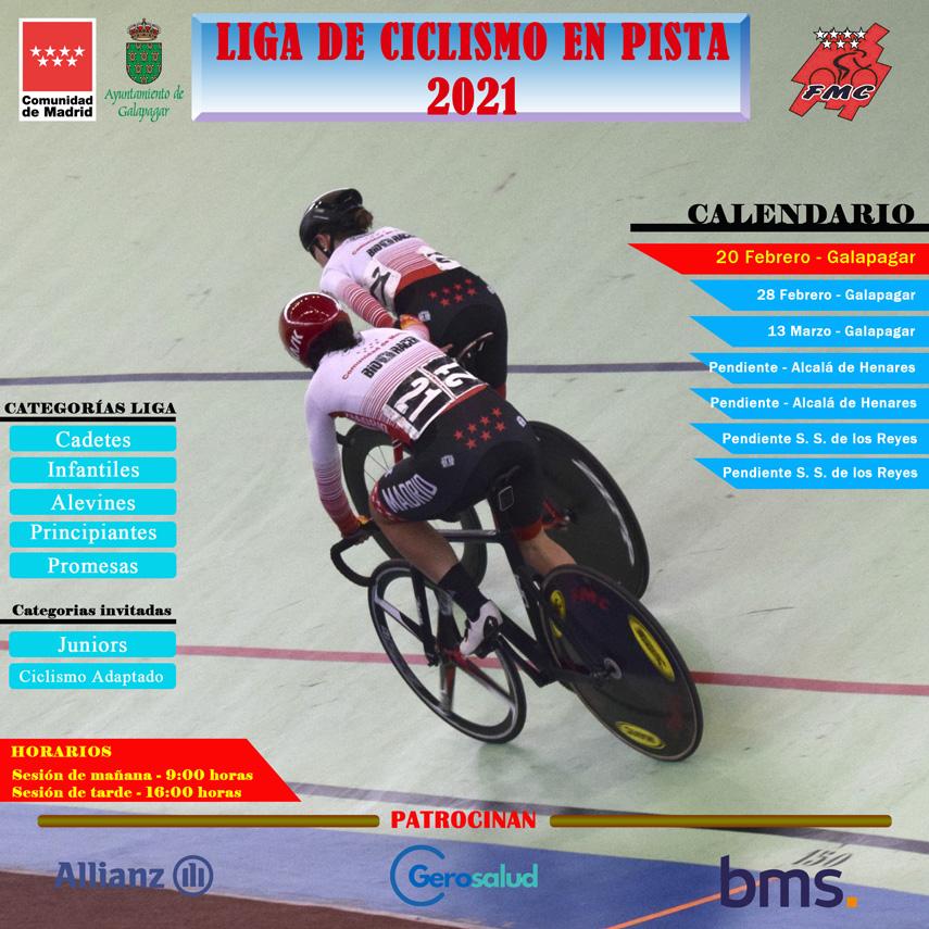 Sobre la asistencia en la Liga de Ciclismo en Pista de la FMC de Galapagar