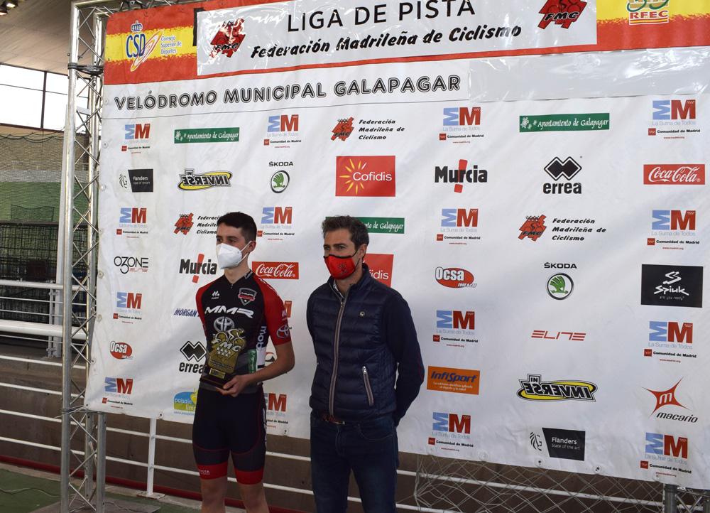 Los cadetes Irene del Puerto y Rafael Martínez y los juniors Almudena Morales y Miguel Ángel Molina, triunfadores en el arranque de la Liga de Pista de la FMC