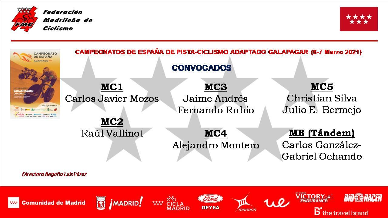 La Selección Madrileña de Ciclismo Adaptado, a brillar en los Nacionales de pista de Galapagar
