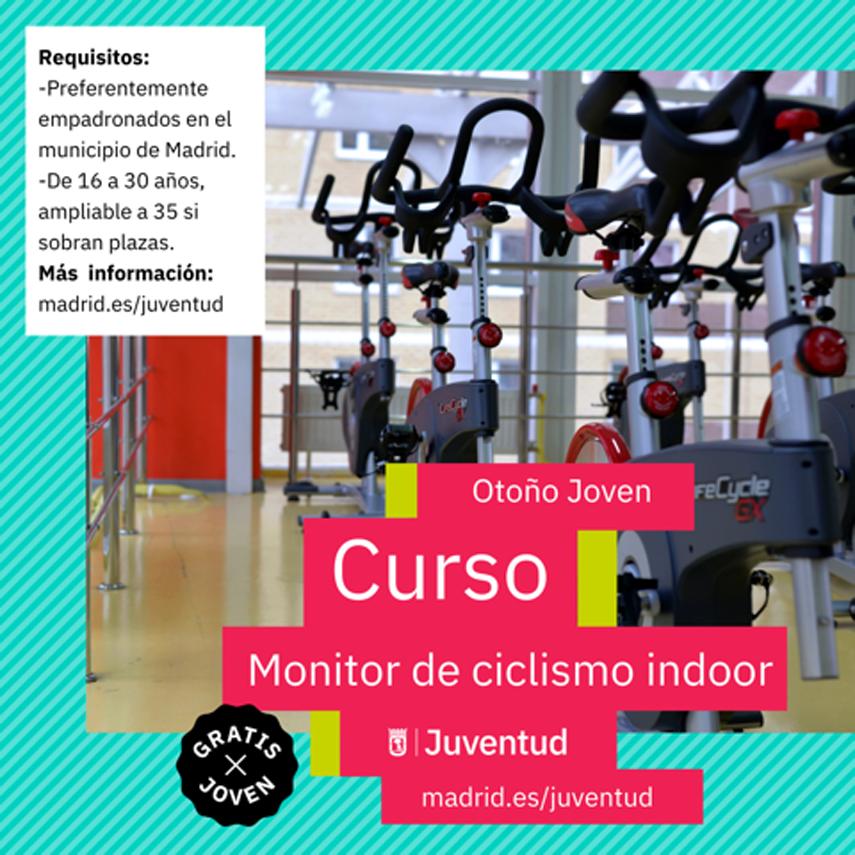 Información completa de uno de los cursos más solicitados: Monitor de Ciclismo Indoor