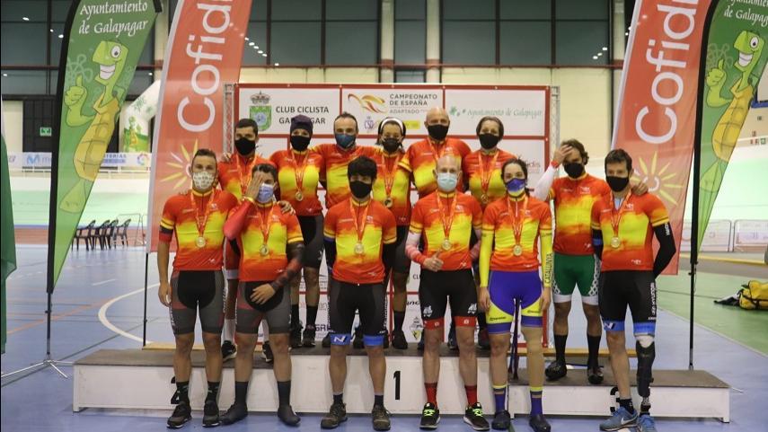 Galapagar-proclama-a-los-Campeones-de-Espana-de-Ciclismo-Adaptado-en-Pista