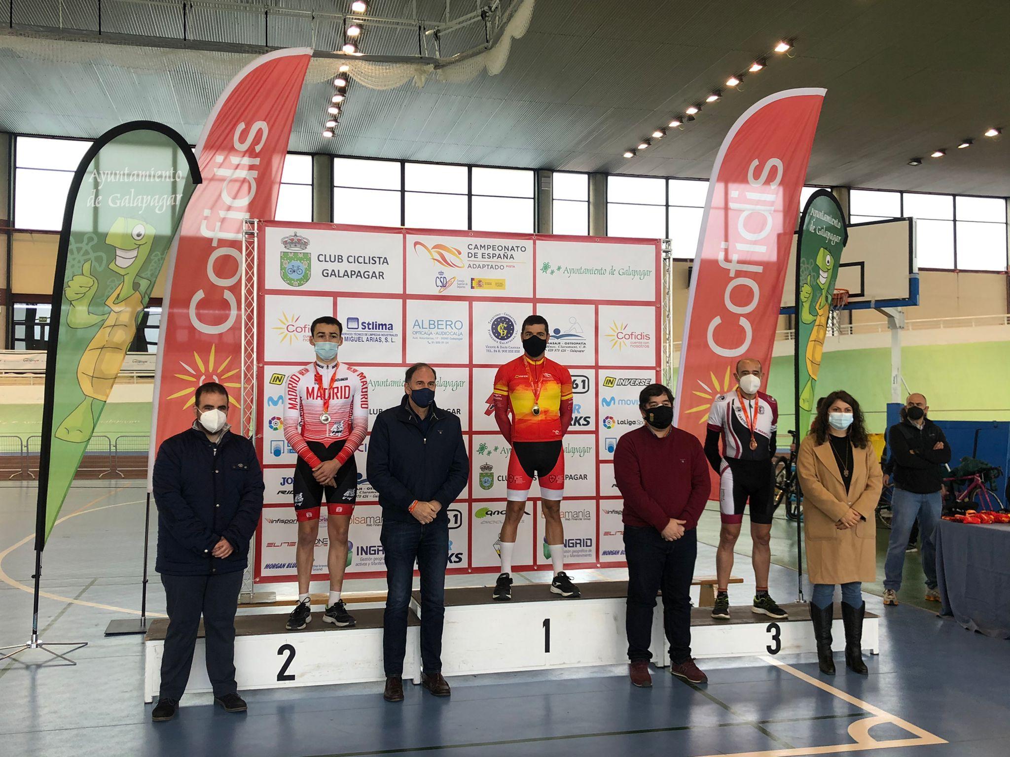 Sobresaliente papel de la Selección Madrileña de Ciclismo Adaptado en los Nacionales de pista