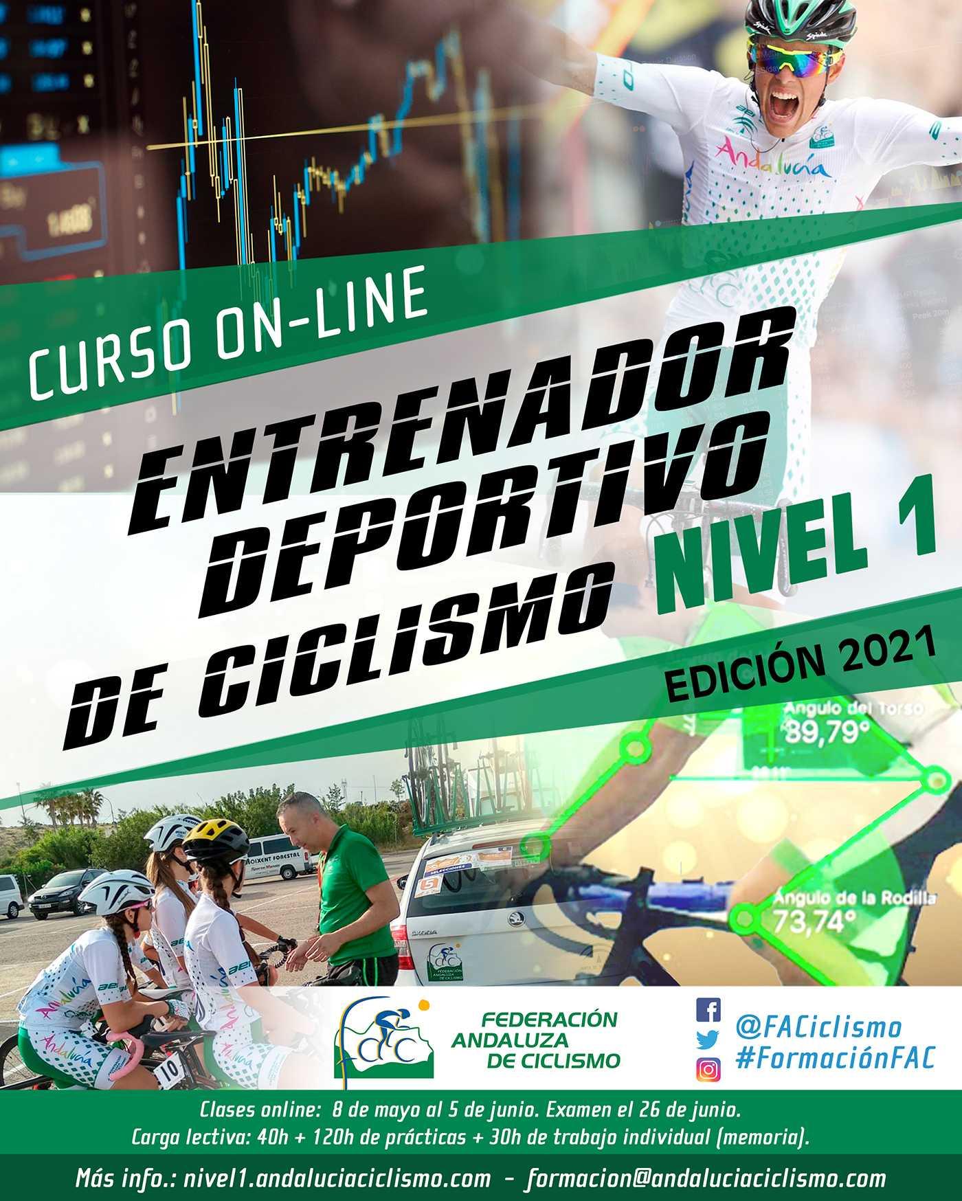 Abierta convocatoria para el Curso Online de Entrenador Deportivo de Ciclismo Nivel 1 2021