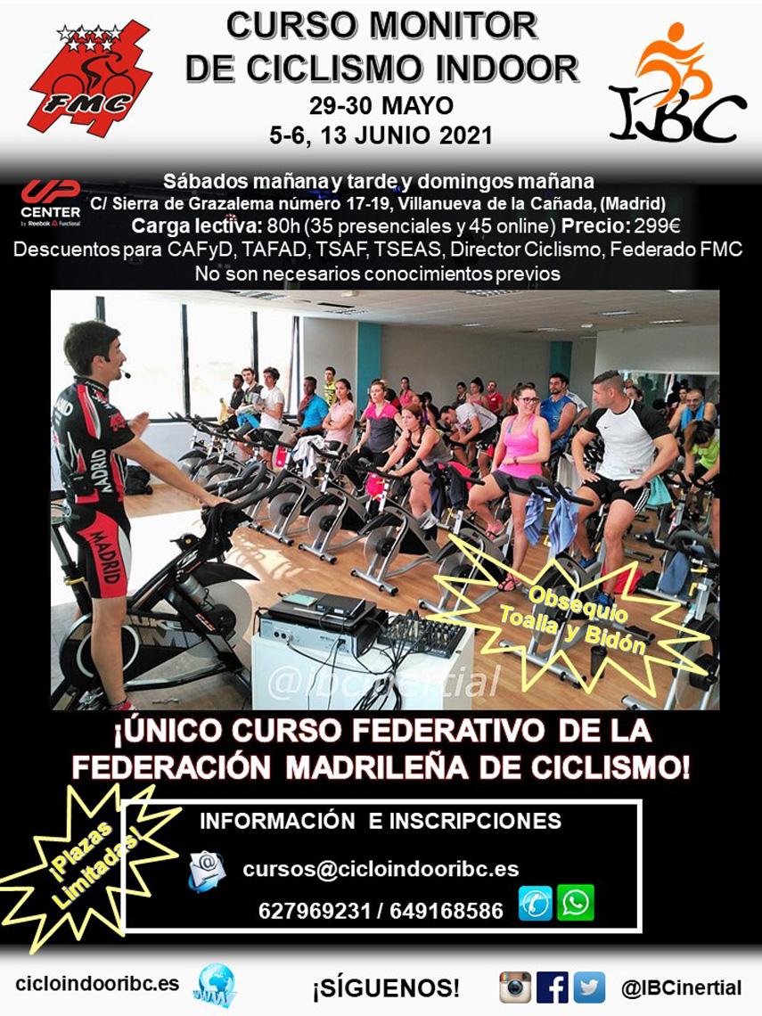 Un año más IBC promueve su Curso de Monitor de Ciclismo Indoor