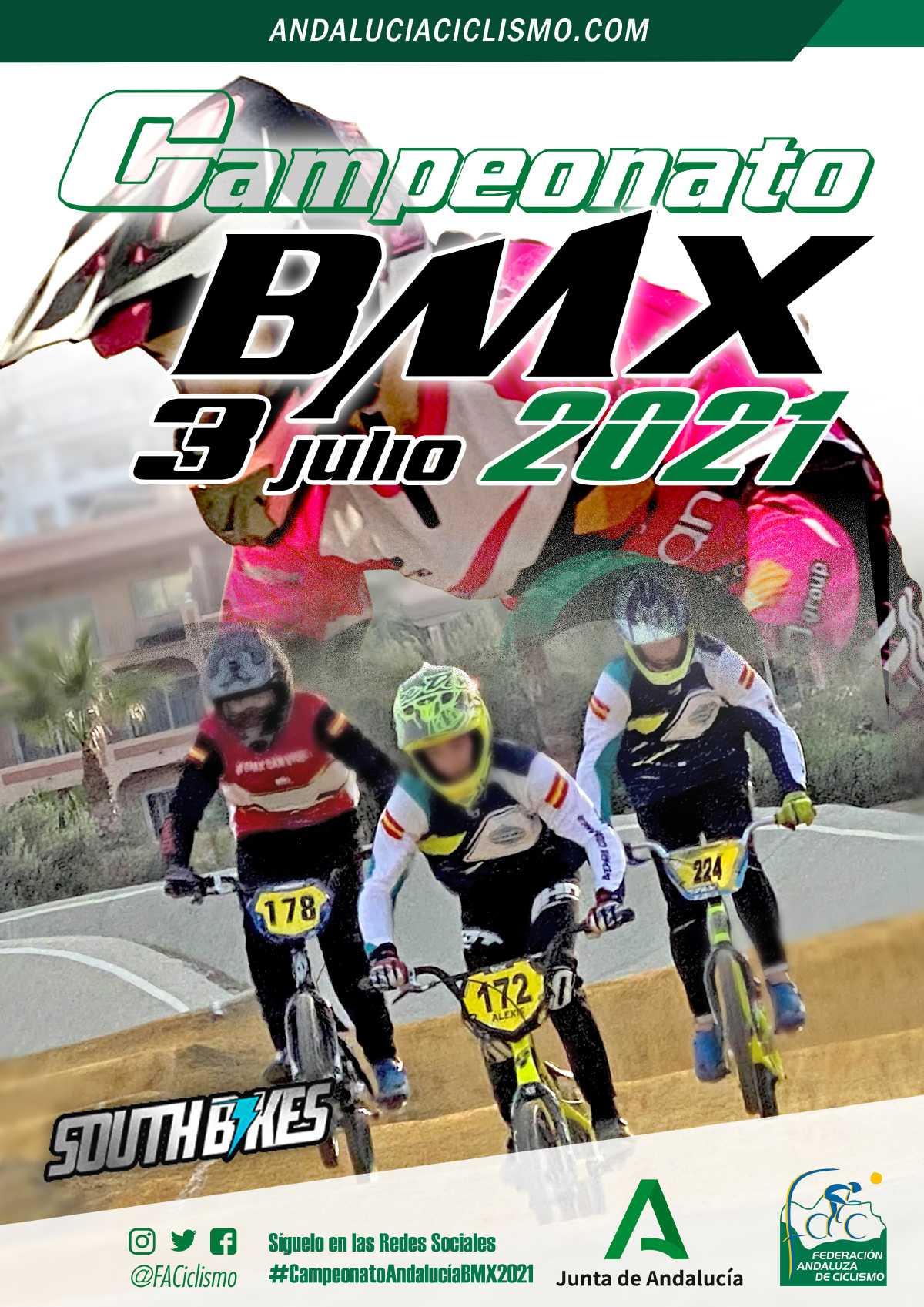 Confirmadas las sedes y fechas para el Campeonato de Andalucía y la Copa de BMX 2021