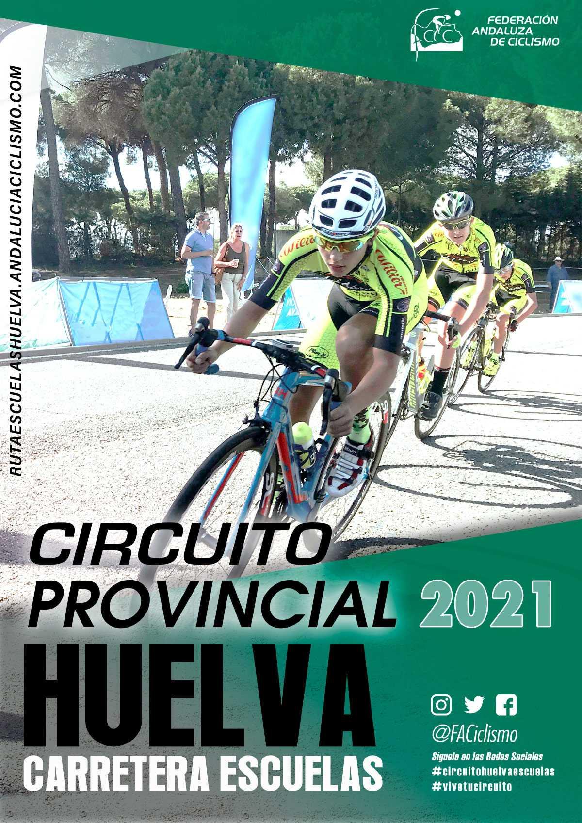 Fechas del Circuito Provincial de Huelva Carretera Escuelas 2021