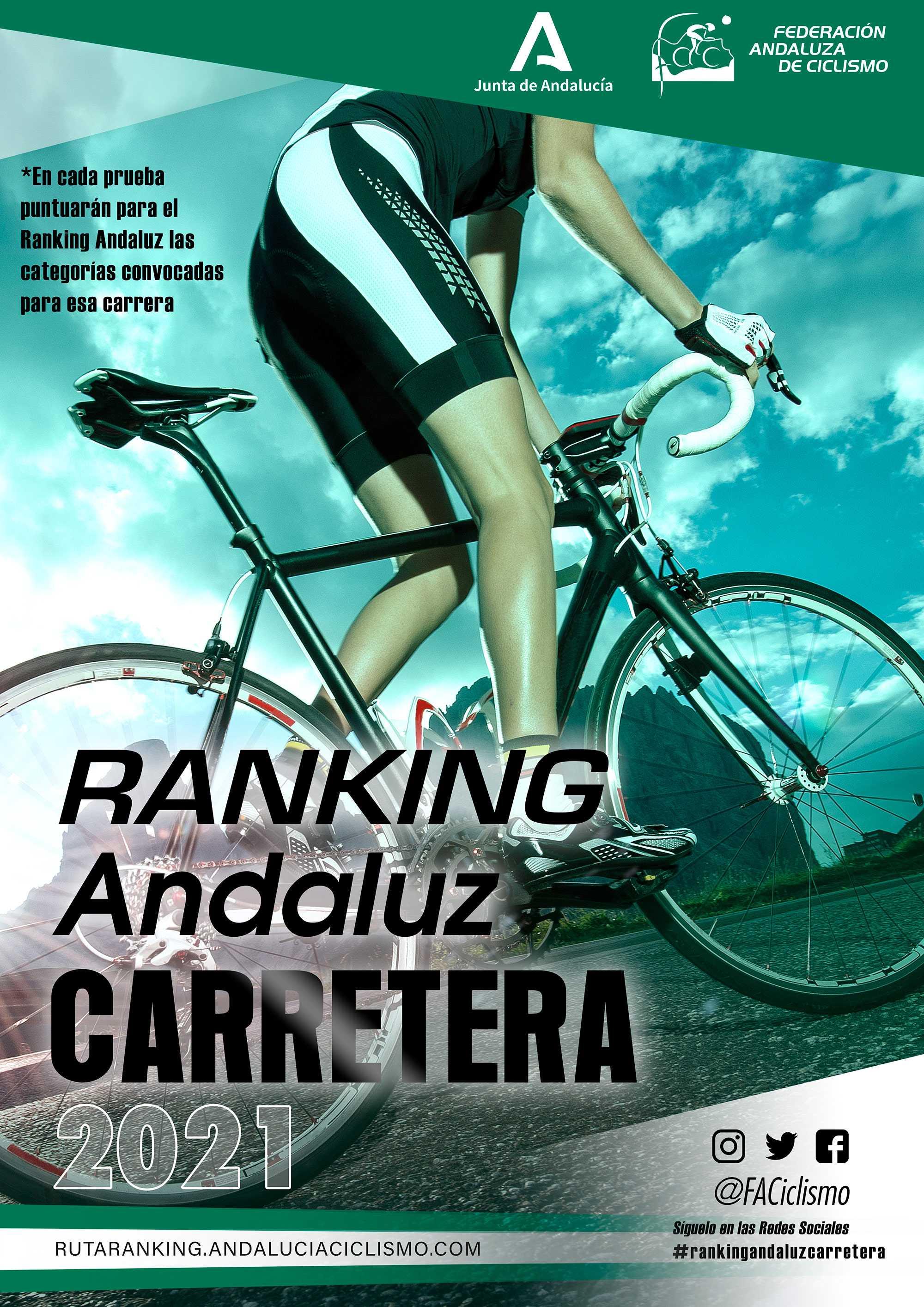 Publicadas las fechas del Ranking Andaluz de Carretera 2021